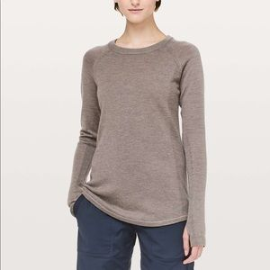 LULULEMON Sit In Lotus Small merino wool sweater